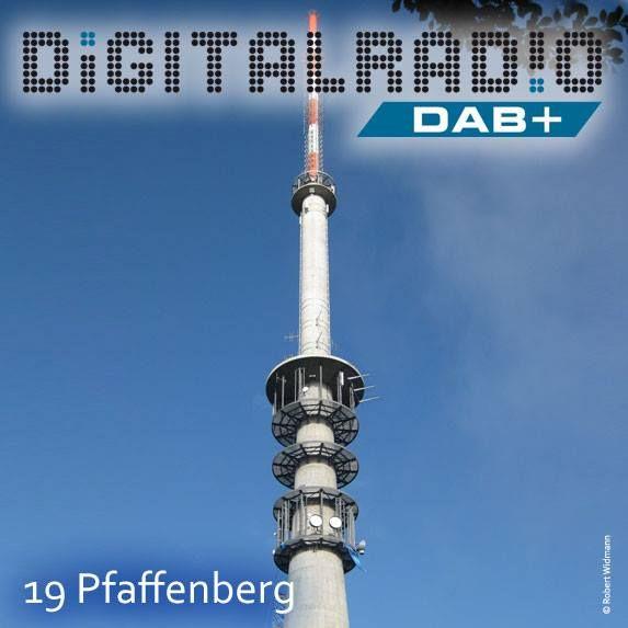 (19) Pfaffenberg/Unterfranken * Sendeanlage wurde 1953 vom Bayerischen Rundfunk erschlossen und ist einer von 13 Grundnetzsendern des BR * BDR mit Digitalradio bereits seit März 2000 auf der Station on air * 2007 Errichtung eines neuen Betonturms (110 m) * Sprengung des alten Rohrmasten im April 2010 * Mehr Infos unter http://www.sender-pfaffenberg.de/