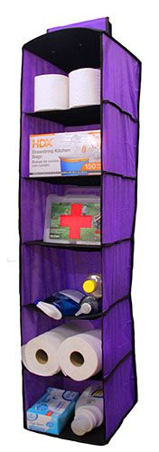 Purple Closet Shelf Organizer