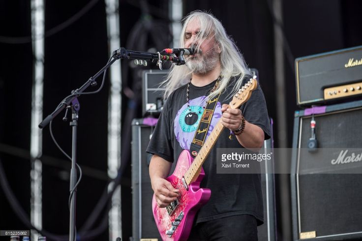 J Mascis of Dinosaur Jr performs in concert during day 3 of Festival Internacional de Benicassim (FIB) on July 15, 2017 in Benicassim, Spain.
