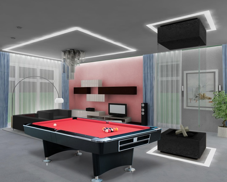 25 Best Pool Tables Images On Pinterest  Night Lamps Pool Table Endearing Pool Table Living Room Design Review