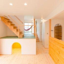 『志和堀の家』スキップフロアのある家の部屋 セカンドリビングのある楽しい空間