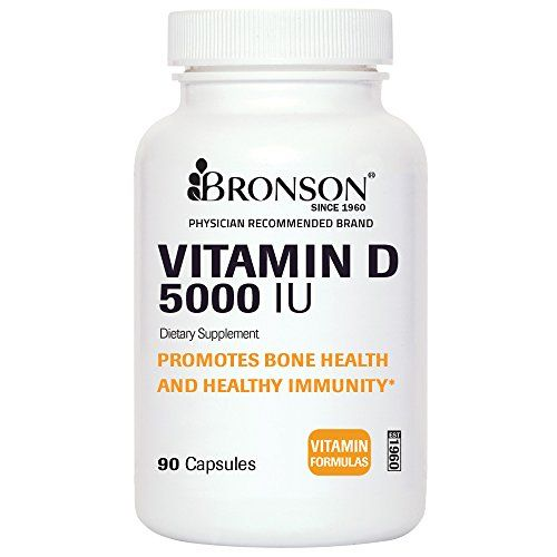 Bronson Labs: Vitamin D3 5000 IU, 90 Quick-Release Vitamin D Capsules, Made in USA -- Want additional info? Click on the image.