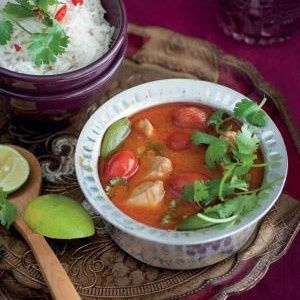 Thai-style red chicken curry