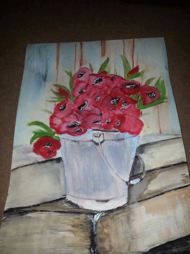 Bucket of red