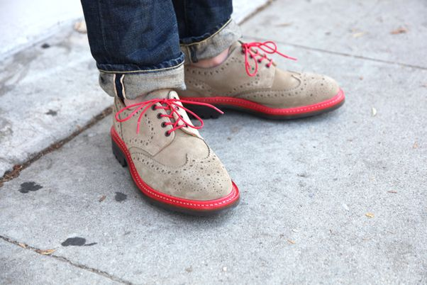 Mark McNairy for Union Los Angeles. Nice shoes, but I'd dress them up instead of down.