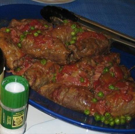 Involtini Di Manzo Recipe - beef rolled with prosciutto, spinach ...