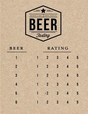 Printable Beer Tasting Cards on Fig + Cotton!