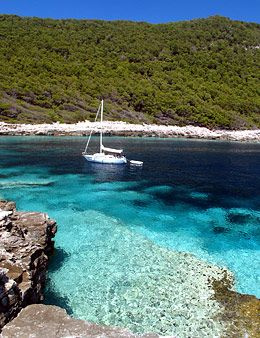 Dalmatia, Croatia - Crystal clear Adriatic Sea off Mljet Island