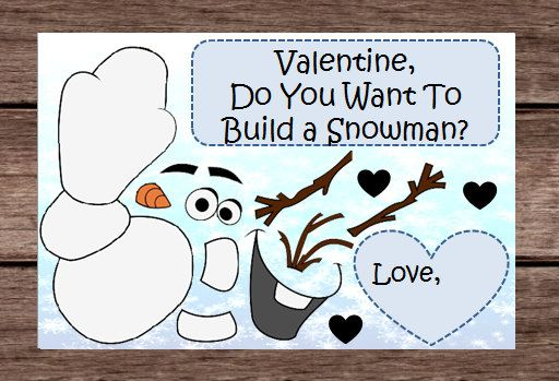 Snowman Out Real Images Snow Valentines