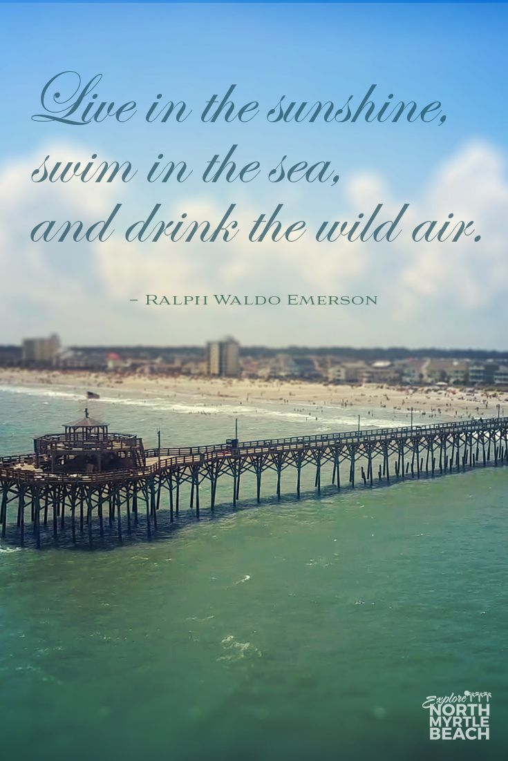 """""""Live in the sunshine, swim in the sea, and drink the wild air."""" -Ralph Waldo Emerson 