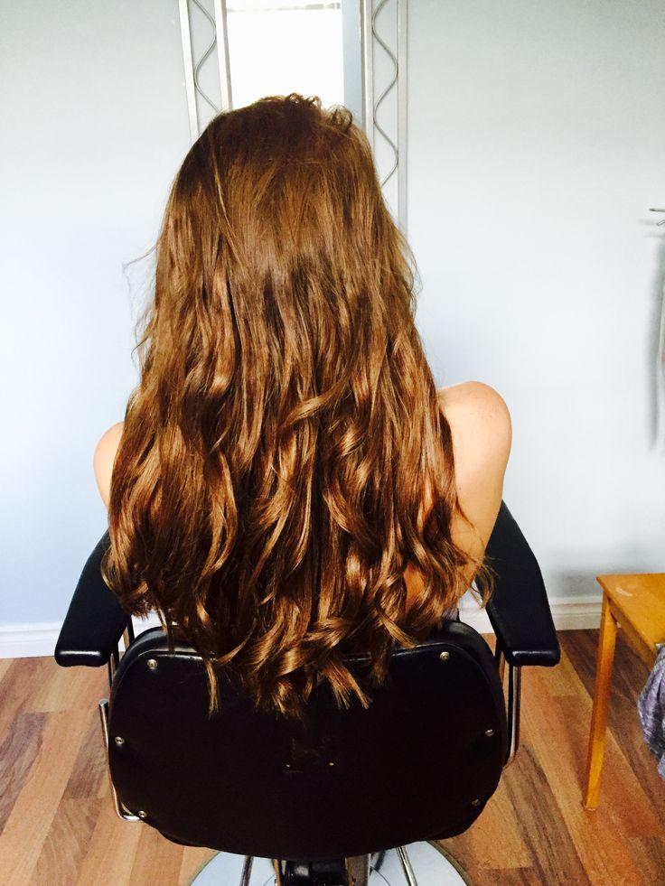 "Hair extensions 22"" Brown i tips 105g humain hair   Extensions de cheveux 100% naturelle brun   https://m.facebook.com/luxebeauteaccessoires/"