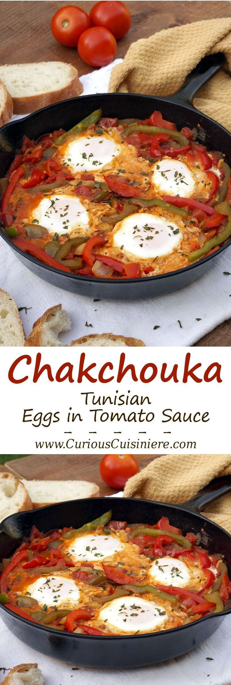 An easy yet hearty African dish of eggs in a fragrant tomato sauce, Chakchouka…