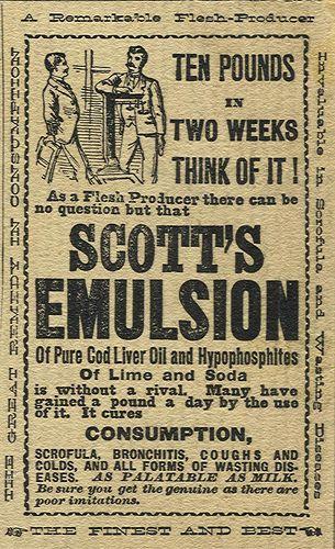 Advert for Scott's Emulsion