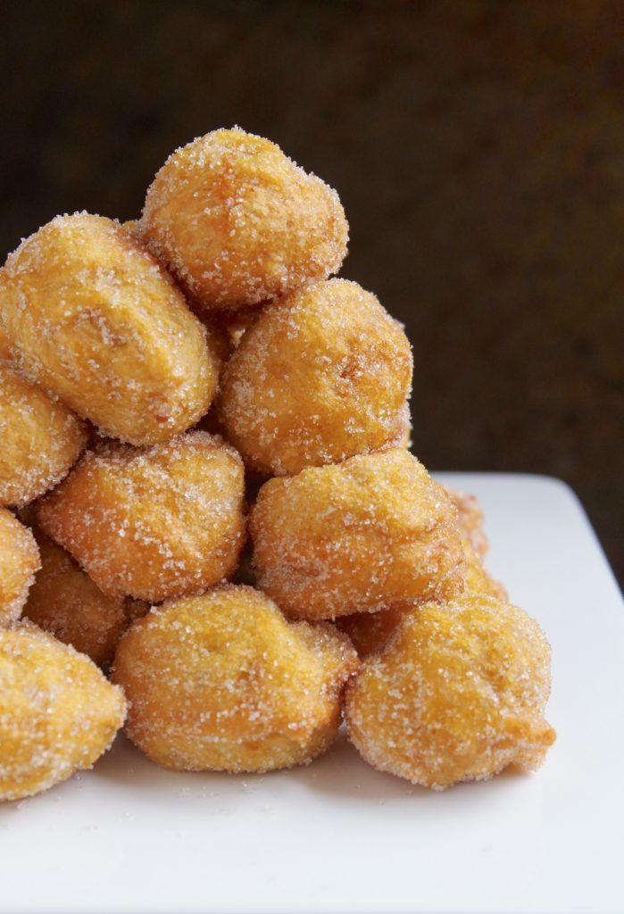 Mini Pumpkin and Orange Doughnuts or Italian Pumpkin Orange Doughnut Bites (Frittelle di Zucca)