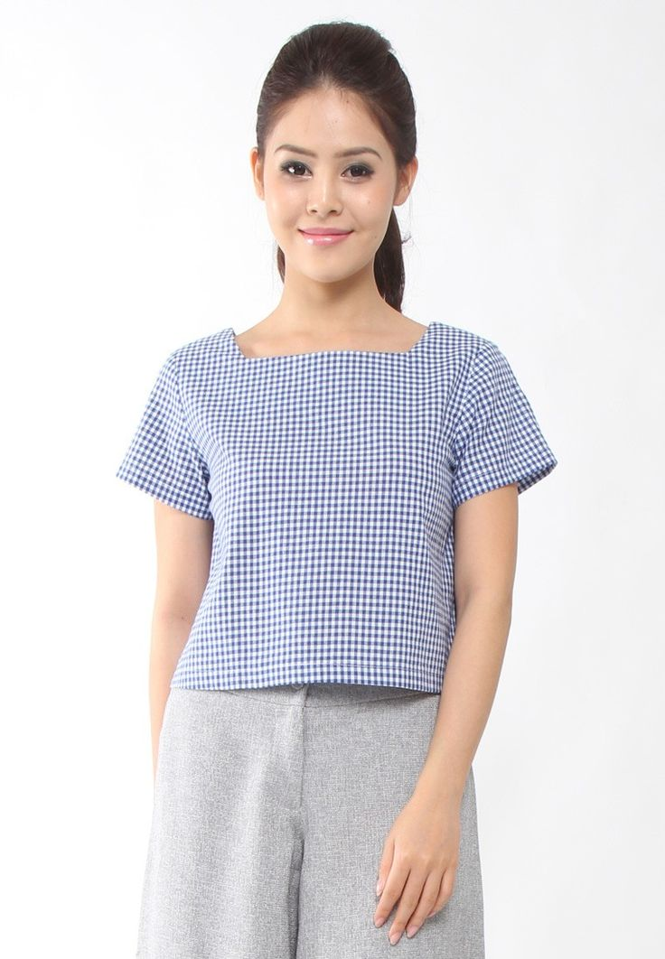 Buy Lowela Square Neck Crop Top Online | ZALORA Malaysia