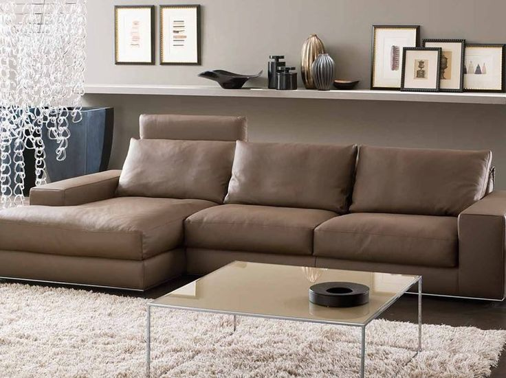 Recliner sofa with chaise longue BLOW UP Gurian Collection by GURIAN