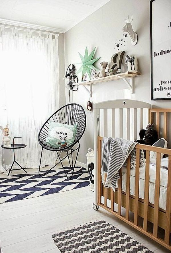 chambre bébé garçon ivoire vintage style moderne