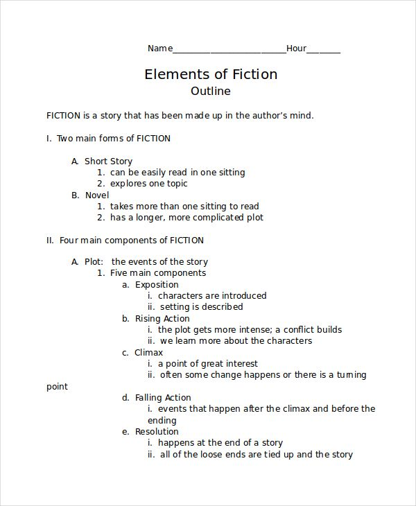 Short Story Outline | template | Story outline, Story