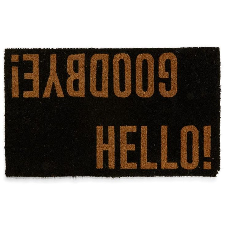 Hello Goodbye Door Mat | Kmart