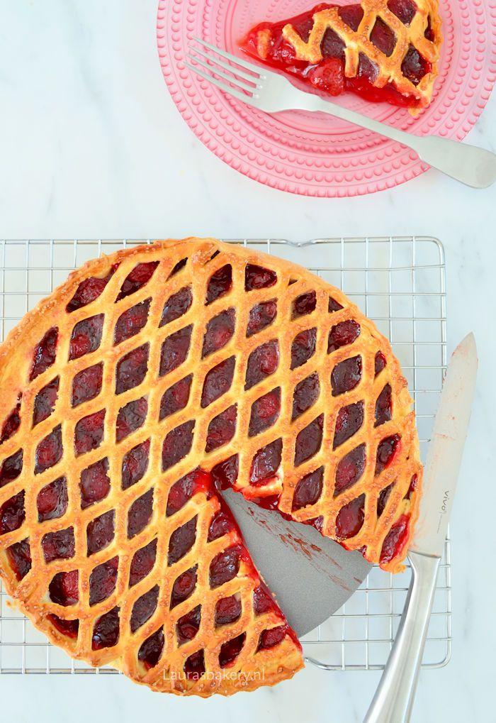 strawberry pie - aardbeienvlaai - Laura's Bakery