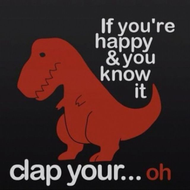 """Want to Giggle Like a Giganotosaurus? Check Out These Dinosaur Memes: """"If You're Happy and You Know It..."""""""