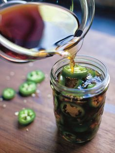 Pickled Jalapeno Peppers Recipe (These pickled jalapeno peppers are beguilingly complex in taste yet take just 20 minutes of easy effort to create. We've been rather promiscuously strewing them over everything. Tacos. Eggs. Home fries. Machaca.)