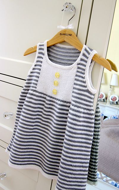 Ravelry: Project Gallery for #14 Striped Dress pattern by Debbie Bliss
