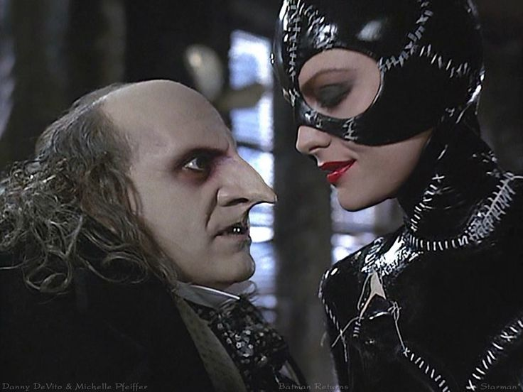 Batman Returns... batman today is remembering cheesy Michael Keaton, Michelle Pfeiffer, Jack Nicolson, and Danny DeVito :) #movies