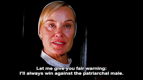 "When you confront a mansplainer: | 26 Perfect Jessica Lange ""American Horror Story"" GIFs For Every Situation"