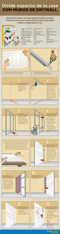 Muros de drywall: aprende a dividir espacios en tu casa | Vive tu casa