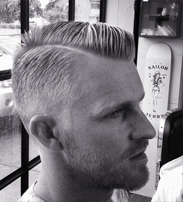 "I realize this is a ""hair"" one, but this looks so good on lots of men. Half shave, have flipped wave look.  I'm diggin it.  It's a 1950's blend with a buzz"