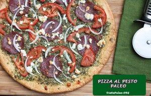 Receta Paleo de Pizza al pesto!