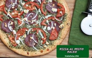 Receta Paleo:Pizza al pesto - Dieta Paleo