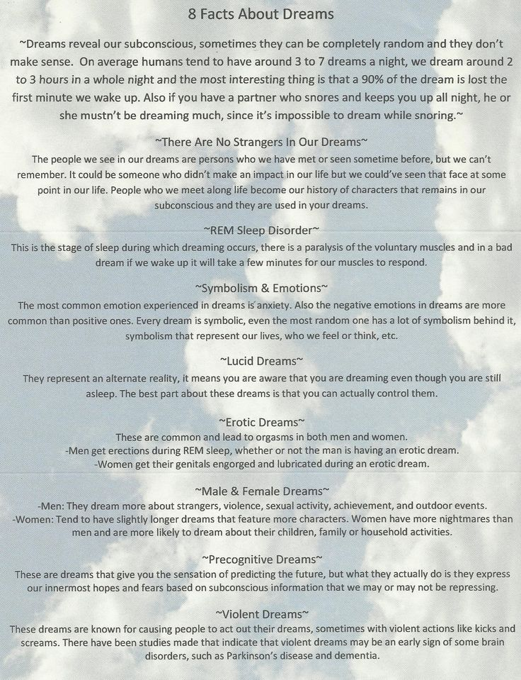 8 Facts About Dreams