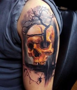 Skull Tattoos 6 - 80 Frightening and Meaningful Skull Tattoos <3 <3