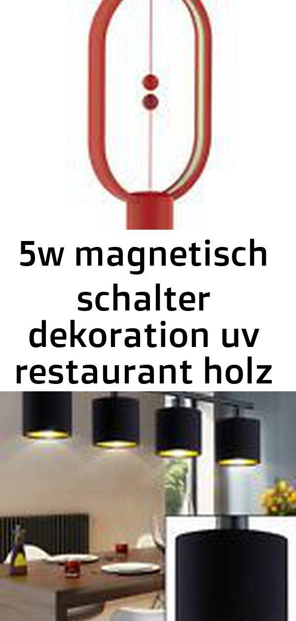 5w Magnetisch Schalter Dekoration Uv Restaurant Holz Buro Schlafzimmer Smart Beleuchtung Led Decken Leuchte Pendel Lampe Spots Schwarz Gold Gaming Logos Decor