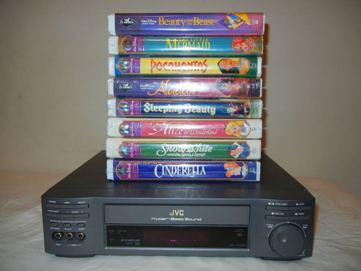 Lot of 8 Disney Princess VHS Movies ( NEW ) + JVC VHS Player ( EUC )