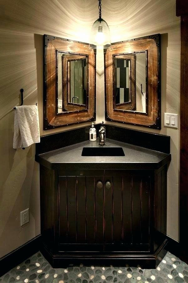 Large Corner Bathroom Vanity Unique Corner Sink And Toilet Vanity Unit Without Bathroom Farmhouse Bathroom Decor Rustic Bathroom Designs Corner Bathroom Vanity