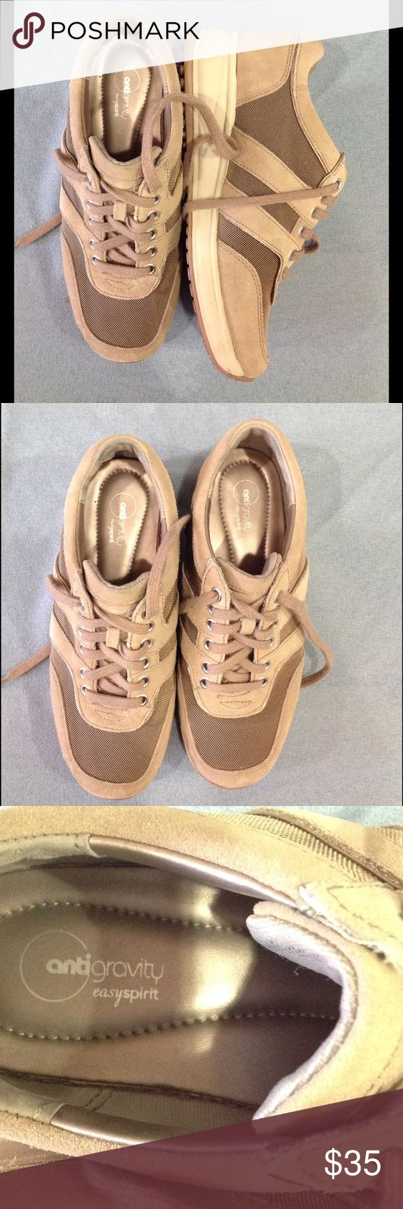 Beige Comfort Sneakers Easy Wearing! Beige, worn once, original laces, really comfortable sneakers! 👟 Women's Size 8 W Shoes Athletic Shoes