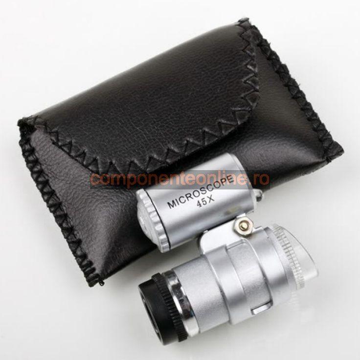 Lupa tip microscop, 60X, iluminare cu LED - 113458