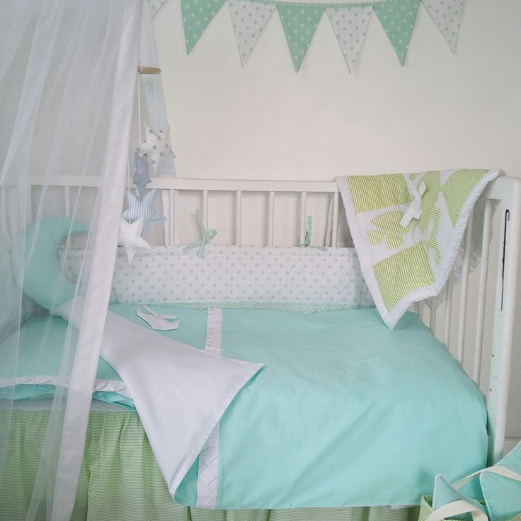 Spring is comming faster than you can imagine, so now it is all about the green, mint and yellow.Can not be proud more - amazing mix of three different our baby bedding colections.Use your imagination combining and inventing your own mixes.  Love, Justina