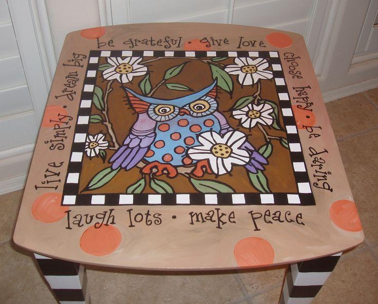 móveis-coruja-pintados à mão-finais mesas-style-vintage-pintados à mão-de fim de tabelas de mobiliário de design.jpg (2391 × 1928)