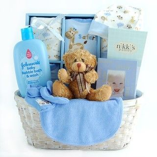 New Arrival Baby Boy Gift Basket - 10681740 - Overstock - Great Deals on Nikki's Gift Baskets Gift Sets - Mobile