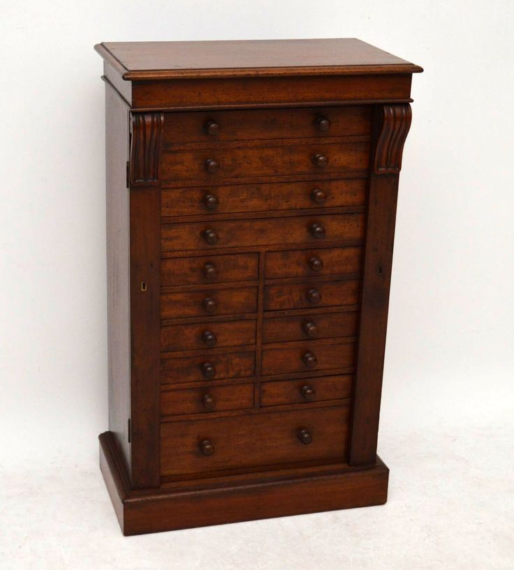 Antique Victorian Mahogany Wellington Chest of Drawers | Church Street Antiques - Antique Furniture