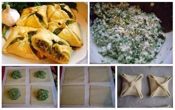 Samosa stuffed with cheese and spinach