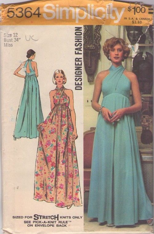 Simplicity 5364 Vintage 70s Funky Cool Twisted Bodice