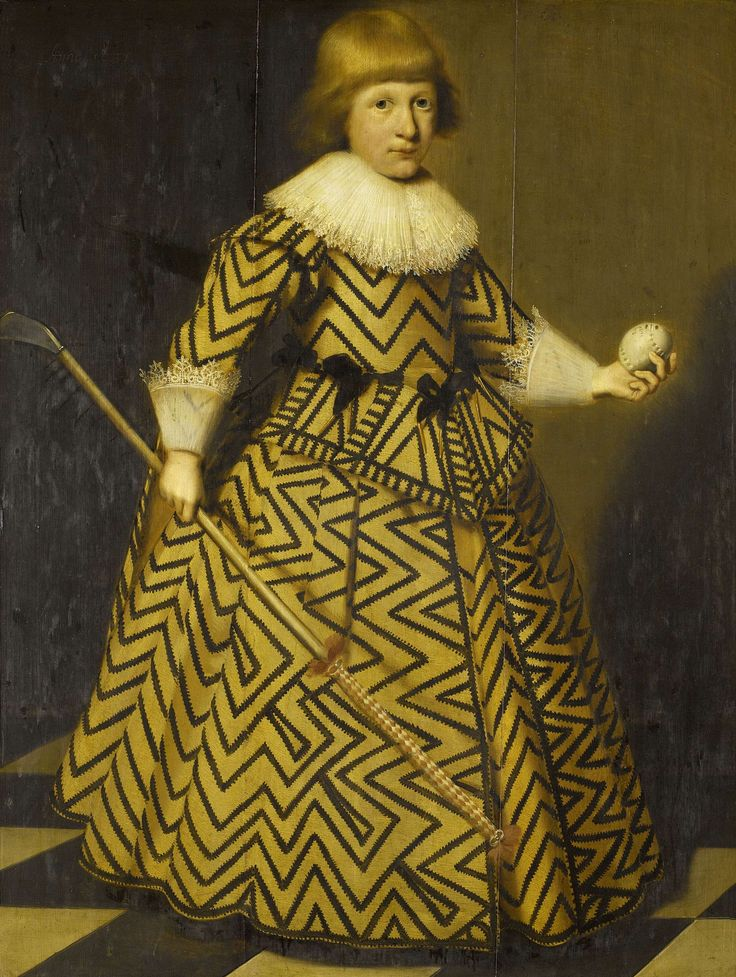 Portrait of a Boy with a Kolf Stick, Wybrand de Geest, , 1631