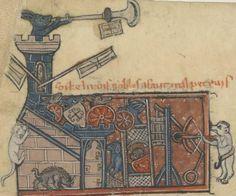 Tier mit Armbrust, BNF Français 1581 Roman de Renart, fol. 8v, 1275-1300, Nordfrankreich.