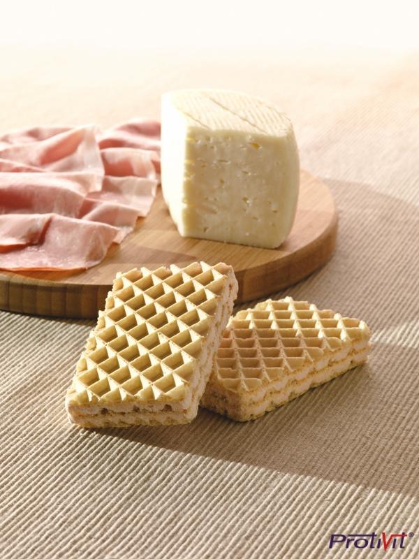 Wafer al prosciutto e formaggio per chi allo snack dolce preferisce la merenda salata!  #ProtiVit #eatclean #dietaproteica #helthyfood #dieta #prodottiproteici  #healthy #salute #benessere #dimagrimento