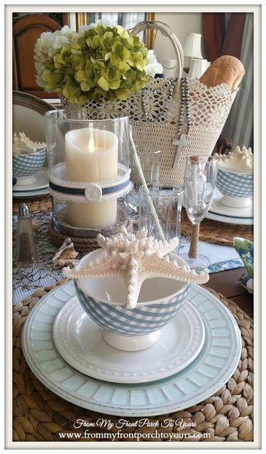 French Farmhouse Nautical Dining Room- Welcome Home Summer Tour